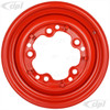 ACC-C10-6620-SMRD - STOCK SMOOTHIE 5X205MM 5 BOLT STEEL WHEEL - HOT ROD RED - 15X4-1/2 (3-3/4 INCH BACK SPACING) HUBCAP SOLD SEPARATELY - BEETLE 52-67 GHIA 56-65 T-3 62-65 BUS 52-73 - SOLD EACH