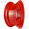 ACC-C10-6621-SMRD - STOCK SMOOTHIE 5X205MM 5 BOLT STEEL WHEEL - HOT ROD RED - 15X5-1/2 (3-3/4 INCH BACK SPACING) HUBCAP SOLD SEPARATELY (1 INCH WIDER THEN STOCK CHECK CLEARANCE BEFORE ORDERING) - SOLD EACH