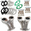 C10-47-7334 - CIP1 EXCLUSIVE – OFF-SET DUAL IDF/HPMX MANIFOLD KIT WITH GASKETS AND HARDWARE - ALL BEETLE STYLE T1 UPRIGHT 1600CC STYLE ENGINES - SOLD SET