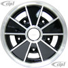ACC-C10-6624 - BRM REPLICA BLACK 5 SPOKE WHEEL - 15 X 4.5 INCH WIDE - WIDE 5 BOLT 205MM - CENTER CAP AND MOUNTING HARDWARE IS SOLD SEPARATELY - (A20)