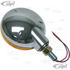 C26-945-192A - CHROME LED TAILLIGHT-AMBER LENSE - SOLD EACH