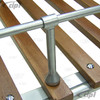 C27-J12629 - MADE IN THE U.K. - (15-2011) VINTAGE STYLE LARGE 3 BOW ROOF RACK - SILVER POWDER COATED WITH QUALITY WOOD SLATS - 46 INCHES LONG - WILL NOT FIT WITH POPTOP OR RAISED ROOF - BUS 52-79 - SOLD EACH