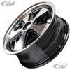 C32-FU205-5515B - POLISHED SPOKES W/BLACK BACKGOUND 911 STYLE WHEEL - 5.5X15 INCH (4 INCH BACKSPACE) - 5 X 205MM BOLT WHEEL - SOLD EACH