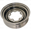 ACC-C10-6620-SMCR - CHROME SMOOTHIE 5X205MM BOLT STEEL WHEEL - 15X4-1/2  (3-3/4 INCH BACK SPACING) HUBCAP SOLD SEPARATELY - BEETLE 52-67 GHIA 56-65 T-3 62-65 BUS 52-73 - SOLD EACH