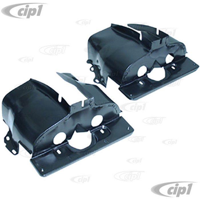 ACC-C10-5442 - EMPI 8867 - BLACK SINGLE PORT CYLINDER SHROUD COVER TINS - ALL BEETLE STYLE 13-1600CC SINGLE PORT ENGINES 66-70 - SOLD IN PAIRS