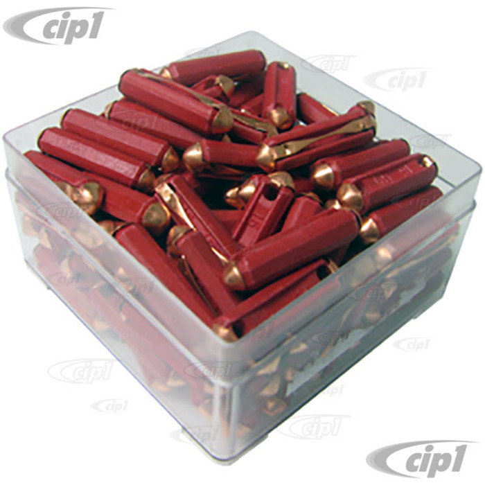 VHD-N17-1214-100 - BOX OF 100 FUSES - 16 AMP RED -SOLD BOX OF 100