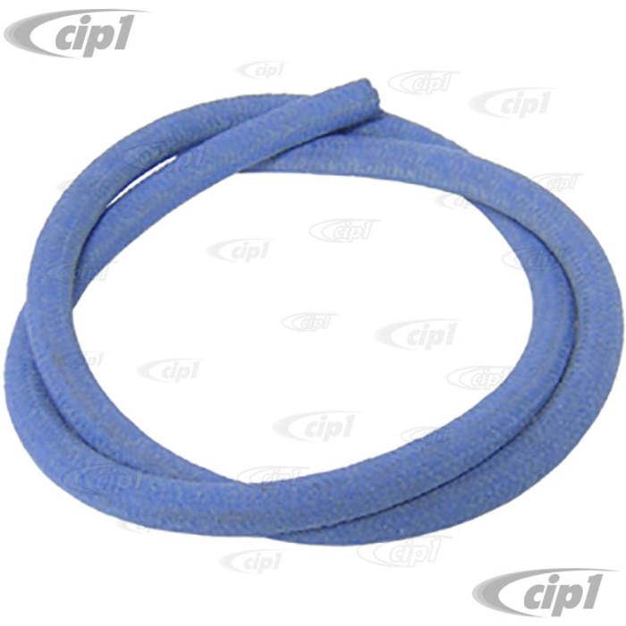 VHD-N20-3501 - BLUE - GERMAN MADE - CLOTH BRAIDED BRAKE FLUID HOSE 7.5MM I.D. - SOLD PER METER
