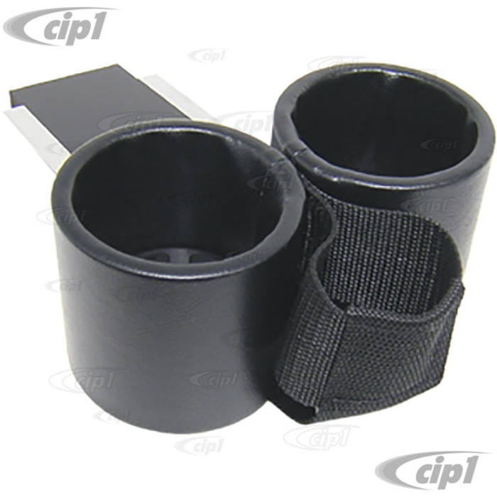 ACC-C10-9105-C - ASHTRAY CUP HOLDER WITH CELL-PHONE HOLDER - FITS INTO ASHTRAY SLOT - SMOOTH BLACK VINYL - GHIA 66-67 - SOLD EACH