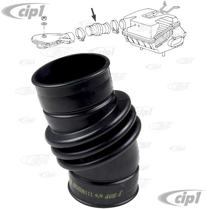 VWC-025-129-627-A - (025129627A) AIR INTAKE BOOT - NON-EFI CARBURETTED MODELS ONLY ENGINE WITH DG/DF CODE - VANAGON 83-85 1.9L ENGINE - SOLD EACH