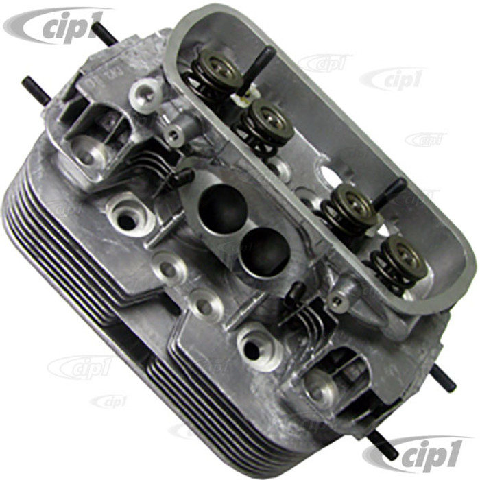 VWC-043-101-355-CKHL - (043101355C) KUHLTEK  - COMPLETE DUAL PORT CYLINDER HEAD - WITH 14MM x 1/2 IN. SPARK PLUG HOLE - STOCK 1600CC BEETLE/GHIA 71-79 - BUS 1971 (WITH F/I SENSOR BOSS) - SOLD EACH