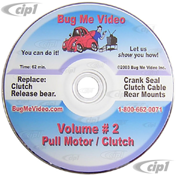 ACC-C10-9601-DVD - BUG-ME DVD VERSION - VOL-2 MOTOR REMOVAL AND CLUTCH SERVICE