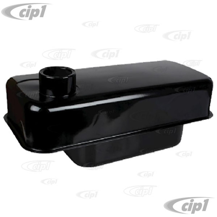 VWC-111-201-075 - (111201075) TOP QUALITY REPRODUCTION - GAS/FUEL TANK WITH 100MM LARGE FILLER NECK (E-COATED BLACK) - CORRECT FOR BEETLE 53-55 (ALSO FITS UP TO 1960) - SOLD EACH