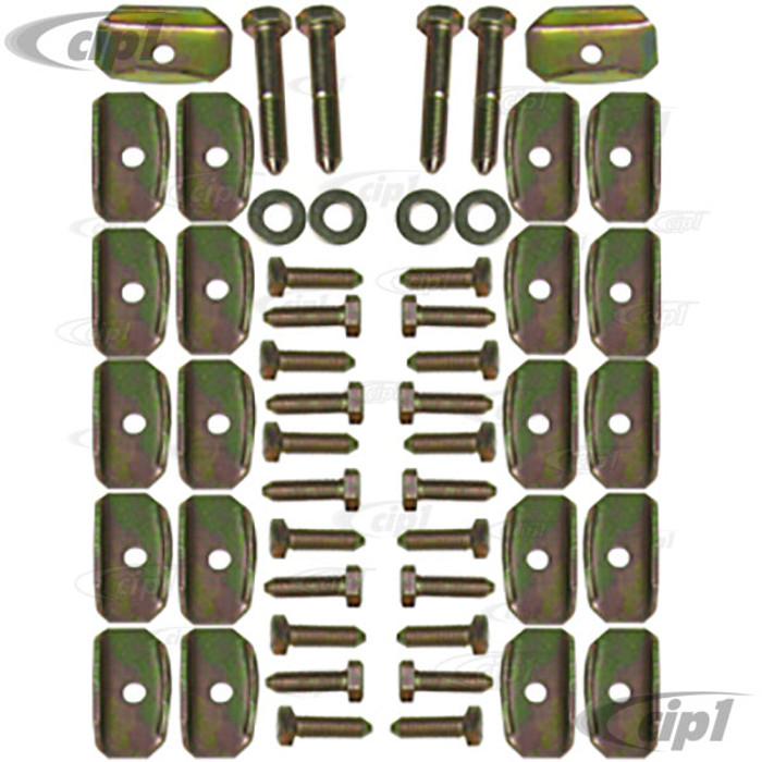 VWC-111-898-061-2 - FLOOR PAN BOLT AND SPACER KIT - BOLTS/SPACERS/WASHERS FOR 1 COMPLETE CAR - BEETLE 46-79/GHIA 56-74/TYPE-3 62-74 - COMPLETE KIT