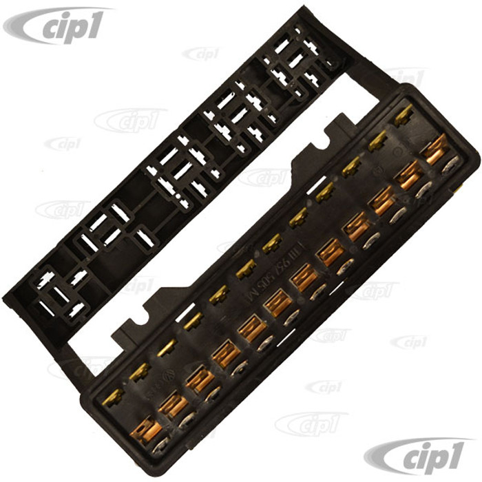 VWC-111-937-505-M - (111937505M) EXCELLENT QUALITY REPRODUCTION - FUSEBOX 12 FUSE - STANDARD BEETLE 73-77/GHIA 73-74/VANAGON 80-85 - SOLD EACH