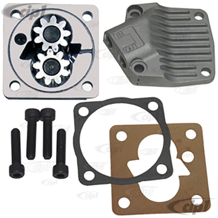 ACC-C10-5386F - (16-9713) -  INLET-OUTLET FULL FLOW OIL PUMP-13-1600 BUG STYLE ENG. 71-79 WITH DISHED CAMSHAFT (STOCK STYLE) - FITTING NOT INCLUDED - SOLD EACH