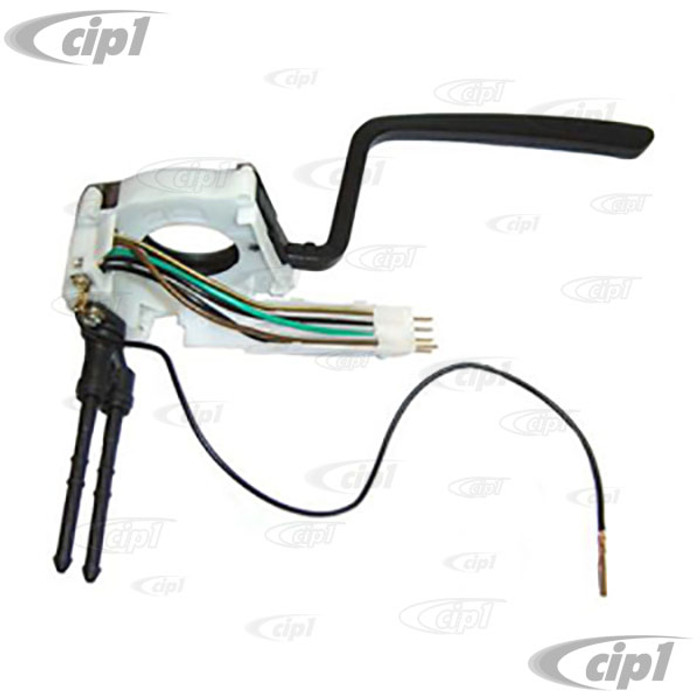 VWC-111-953-519-G - (111953519G) QUALITY REPRODUCTION - WINDSHIELD WIPER SWITCH ON STEERING COLUMN - 6 WIRE CONNECTOR - BEETLE 74-79 / GHIA 1974 ONLY - SOLD EACH
