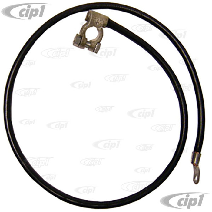 VWC-111-971-225 - POSITIVE BATTERY CABLE (38 INCH) - OE STYLE GERMAN CONNECTORS - BEETLE/GHIA 46-66