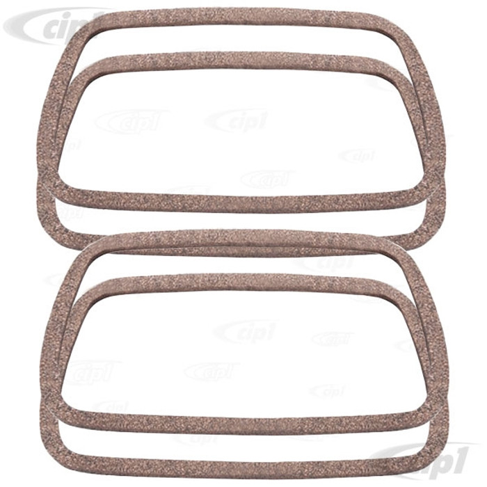 VWC-113-101-481-F4 - (113101481F) SET OF 4 GERMAN VALVE COVER GASKETS - ALL 40HP 12-1600CC BEETLE STYLE ENGINES / VANAGON 1.9L & 2.1L - SOLD SET OF 4