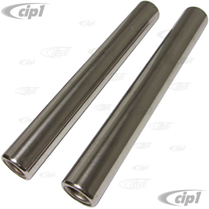 VWC-113-251-163-DSS2 - (113251163D) EXCELLENT QUALITY - STAINLESS STEEL TAIL PIPES (10.5 INCH - 265MM LONG) - BEETLE 56-74 / GHIA 56-74  - SOLD PAIR