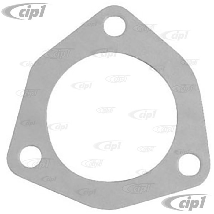 ACC-C10-6009 - LARGE 3 BOLT TRIANGLE EXHAUST GASKETS - MUFFLER TO HEADER - 2-5/8 IN. I.D. - 3-1/4 IN. BETWEEN BOLT HOLES - SOLD PAIR