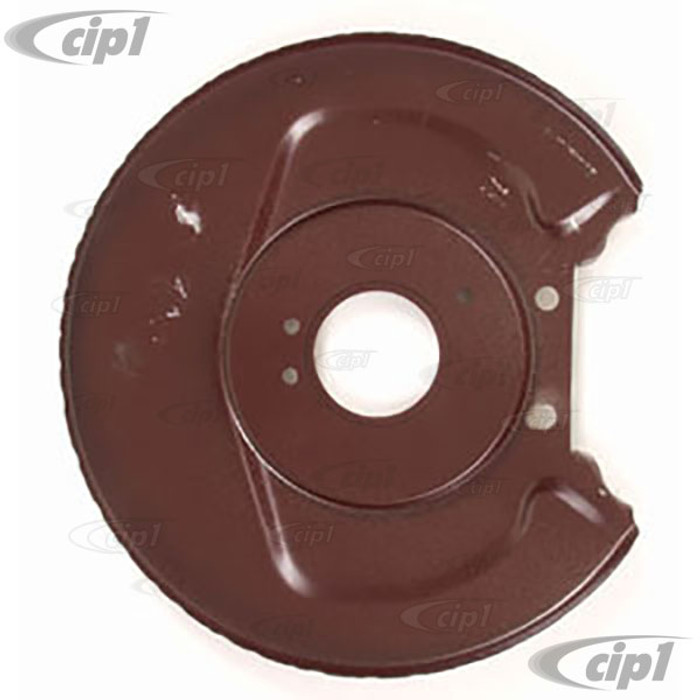 VWC-113-405-593 - FRONT DISC BRAKE BACKING PLATE - FIT LEFT OR RIGHT - STANDARD BEETLE 66-77 / GHIA 66-74 / TYPE 3 66-74 - FIT LEFT OR RIGHT - SOLD EACH