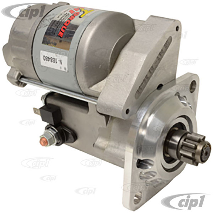 ACC-C10-5767-HC - SUPER HIGH TORQUE GEAR REDUCTION (1.4KW-1.88HP) 12V STARTER (MADE IN THE USA) - BEETLE 67-79 / GHIA 67-74 / BUS 67-75 / TYPE 3 67-74