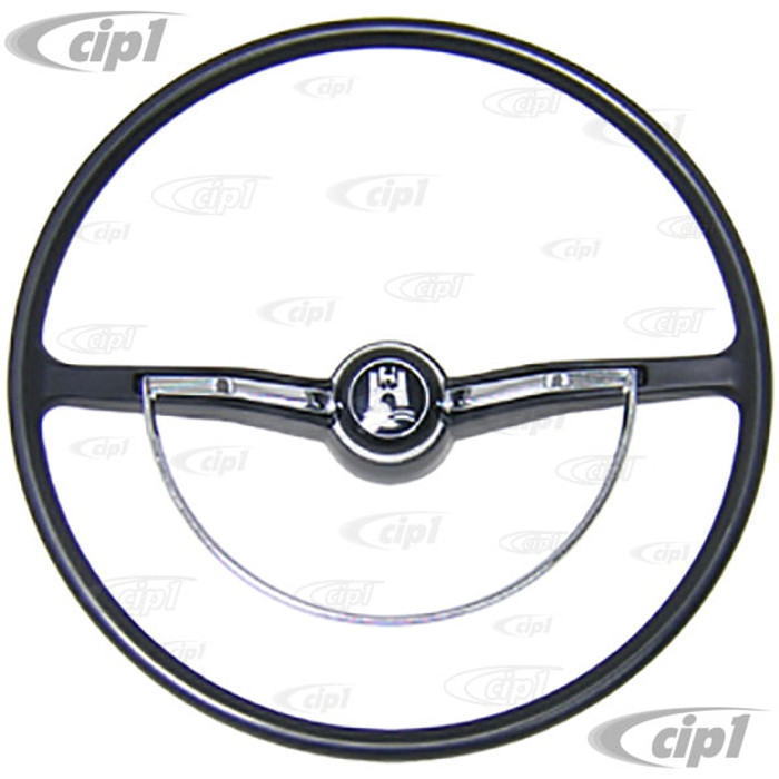 VWC-113-498-600-BKIT - COMPLETE STEERING WHEEL KIT - CHARCOAL(BLACK) 100% NEW - BEETLE SEDAN 62-71- BEETLE CONV. 62-70 - GHIA 62-71 - TYPE-3 62-71 (DOES NOT INCLUDE CANCELLATION RING)