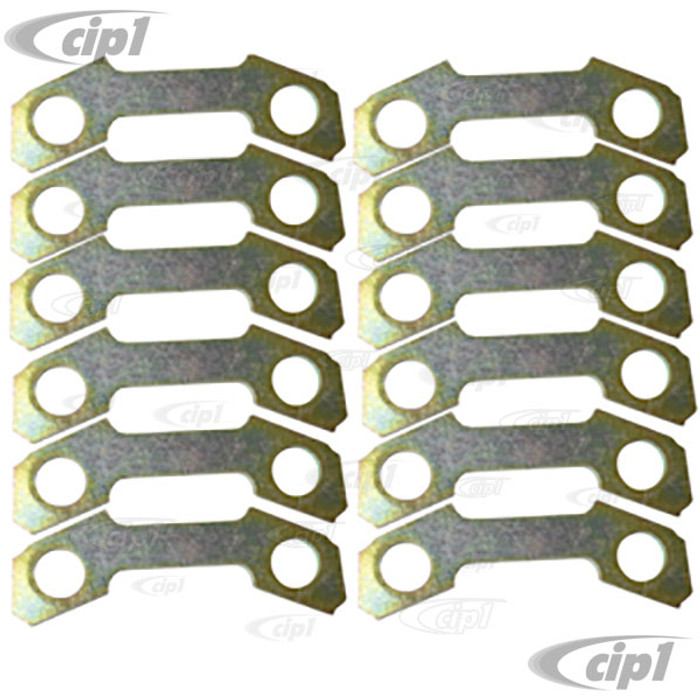 VWC-113-501-329-SET - 12 PIECE CV JOINT WASHER SET FOR BEETLE 69-79 / GHIA 69-74 / TYPE-3 69-73 90MM DIA. - SOLD SET OF 12