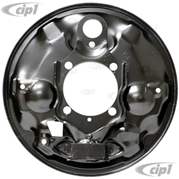 VWC-113-609-439-C - (113609439C) - EXCELLENT EUROPEAN PRODUCTION - LEFT - REAR BRAKE BACKING PLATE - BEETLE/GHIA - 65-67 - SOLD EACH