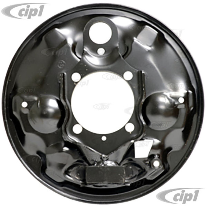 VWC-113-609-440-C - (113609440C) - EXCELLENT EUROPEAN PRODUCTION - RIGHT - REAR BRAKE BACKING PLATE - BEETLE/GHIA - 65-67 - SOLD EACH