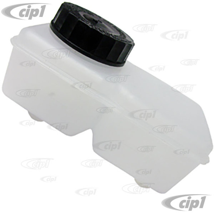 VWC-113-611-301-DCC - (113611301D 17-2878-0) - DUAL CIRCUIT DIRECT MOUNT BRAKE FLUID RESERVOIR FOR LATE STYLE MASTER CYLINDER (85MM BETWEEN OUTLETS) BEETLE/GHIA - SOLD EACH