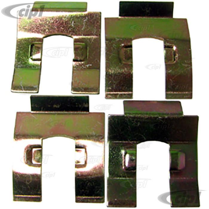 VWC-113-611-715-A4 - SET OF 4 - BRAKE HOSE BRACKET CLIPS ALL MODELS 50-79 - SOLD SET OF 4