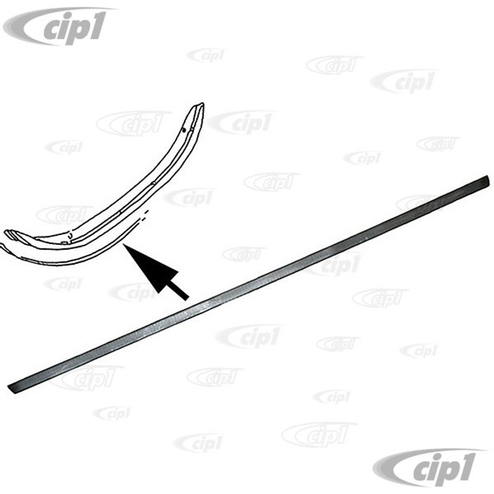 VWC-113-807-425-B - (113807425B) GERMAN - REAR BUMPER RUBBER DECO STRIP - METAL BACKING EUROPEAN MODELS ONLY (WILL NOT FIT USA/CANADA MODELS) - USE MOUNTING CLIPS 171-807-249-A10 (175MM LONG X 38MM WIDE) - BEETLE 75-85 - SOLD EACH