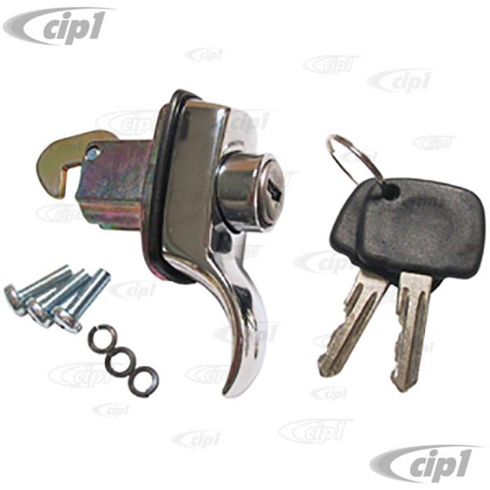 VWC-113-827-503-A - ENGINE LID LOCK W/ KEYS - BEETLE 65-66 / BUS 1966 ONLY - SOLD EACH