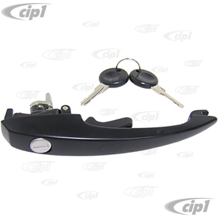VWC-113-837-205-MB - OE QUALITY BLACK OUTER LOCKING DOOR HANDLE W/ KEYS - BEETLE 68-79 / GHIA 68-74