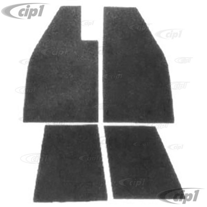 VWC-113-898-740 - (113898740) HEAVY-DUTY EXTRA THICK TAR BOARD FLOOR INSULATION KIT - 4 PIECE SET - BEETLE 46-79 - SOLD SET OF 4