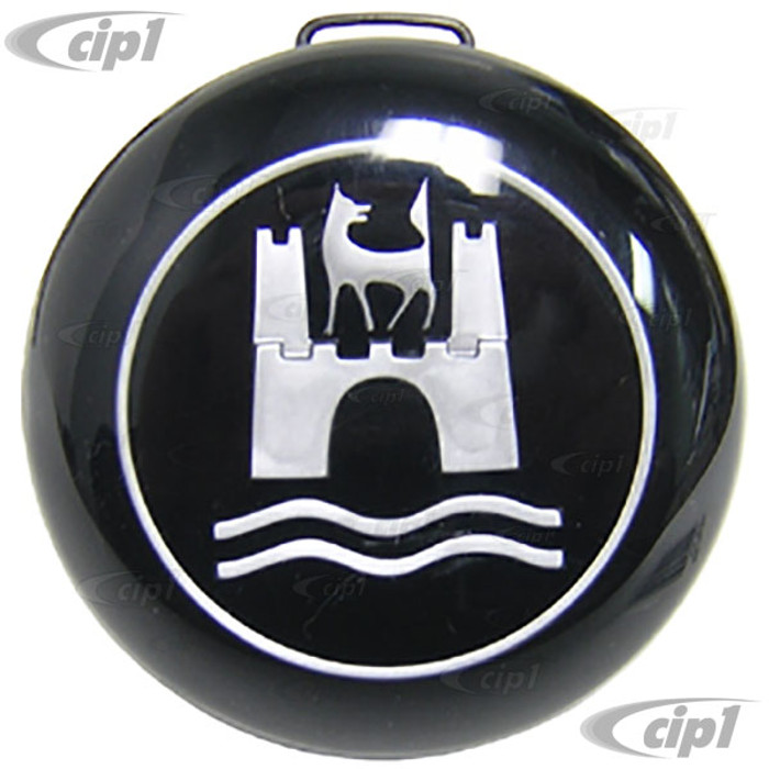 VWC-113-953-501-B - (113953501B) - HORN BUTTON - STOCK REPLACEMENT - BEETLE 60-71 - GHIA 60-71 - TYPE-3 62-71 - SOLD EACH