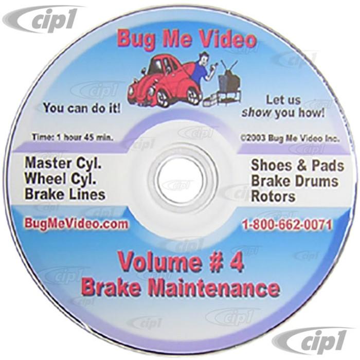 ACC-C10-9603-DVD - BUG-ME DVD VERSION - VOL-4  BRAKE MAINTENANCE