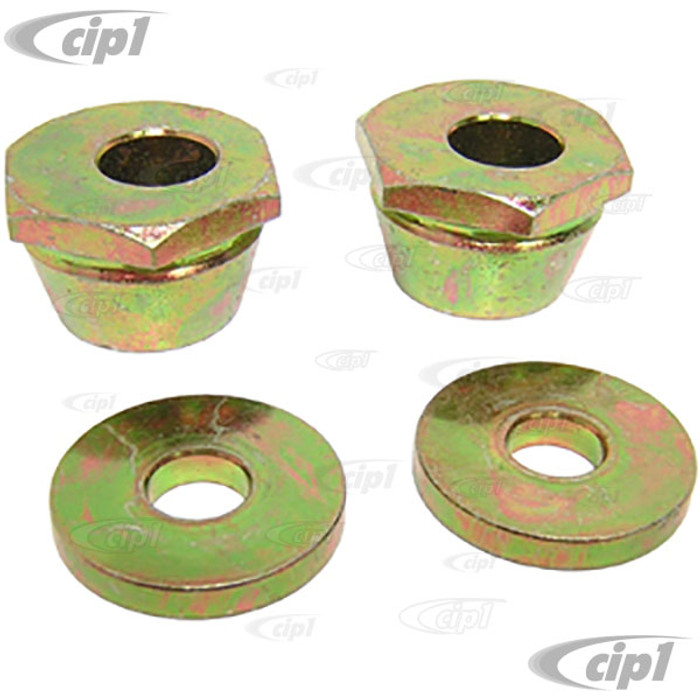 VWC-131-498-319-KIT - BALLJOINT ECCENTRIC CAMBER ADJUSTERS WITH WASHERS - STD  BEETLE / GHIA 66-77 W/BALLJOINT FRONT - FIT LEFT AND RIGHT - 4 PIECE SET