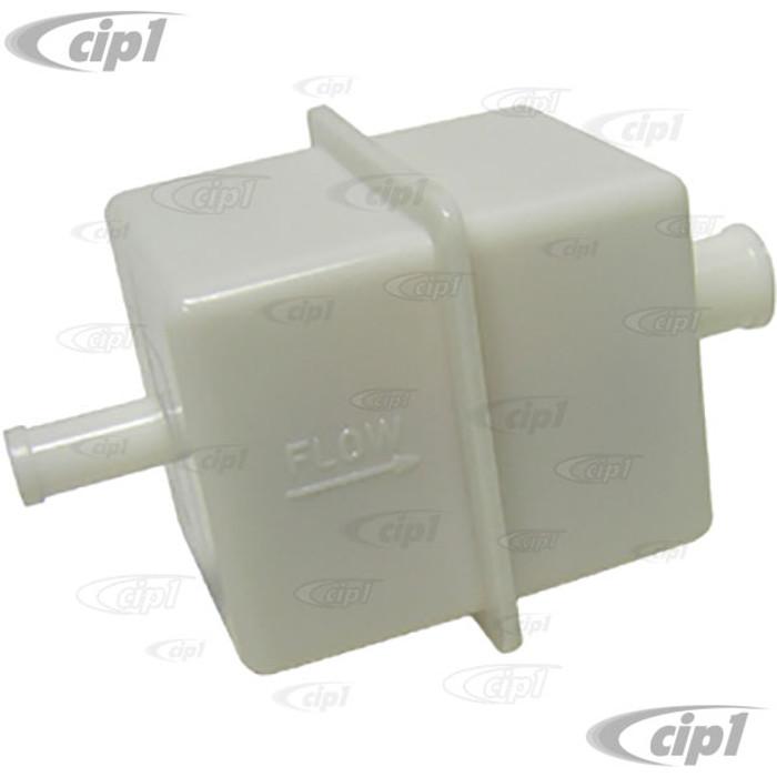 VWC-133-133-511 - (133133511) SQUARE PLASTIC FUEL FILTER - BEETLE 75-79 / BUS 75-79  - SOLD EACH