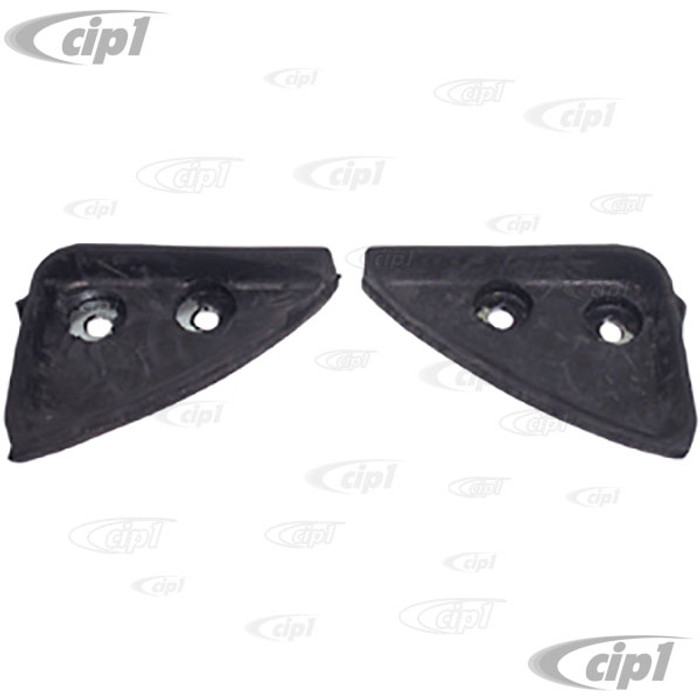 VWC-133-898-204 - (151-871-203 151871203) GERMAN MADE - PAIR OF RUBBER HEADER BOW WEDGE SEALS - TOP OF POST TO HEADER BOW - SUPER CONVERTIBLE 73-79 - SOLD PAIR