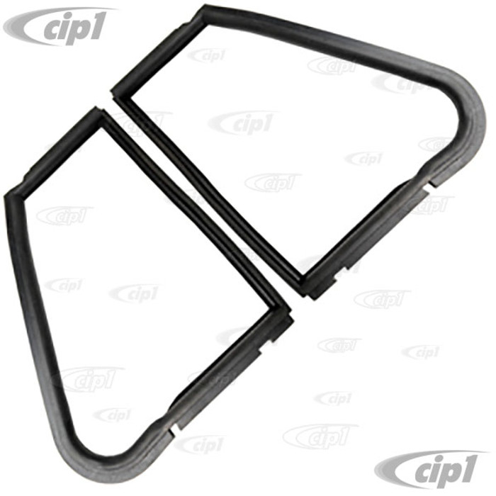 VWC-151-837-625-BLR - GERMAN MADE - PAIR OF LEFT AND RIGHT VENT WINDOW SEALS - BEETLE CONVERTIBLE 65-72 - SOLD PAIR