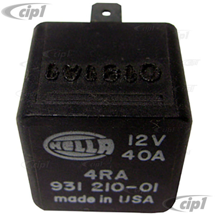 VWC-171-937-503 - (171937503) TOP QUALITY EUROPEAN BRAND - MAY VARY - 12 VOLT/40 AMP MULTI PURPOSE 4 TERMINAL RELAY - VANAGON 86-91 - GOLF/JETTA 83-99 - FUEL PUMP TYPE-3 68-73 - REAR DEFROSTER FOR BEETLE/GHIA/TYPE-3 67-79 - SOLD EACH