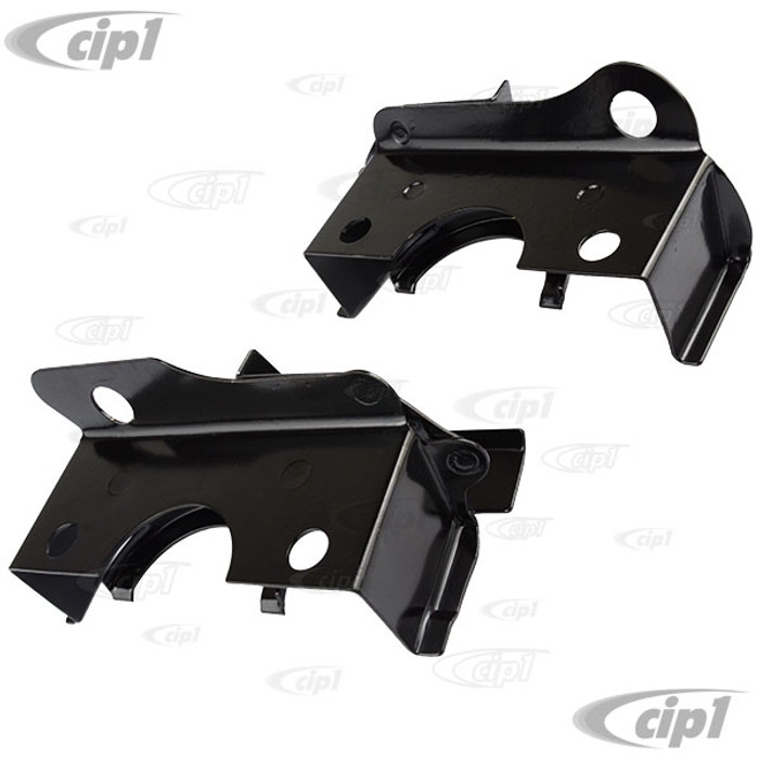 VWC-211-119-577-PR - (211119577) OE QUALITY FROM GERMANY - INTAKE MANIFOLD HEAT RISER COVERS (SEE 113-119-597 FOR INSULATION-NOT INCLUDED) - PAINTED BLACK - BEETLE/GHIA 63-73 / BUS 63-71 - SOLD PAIR