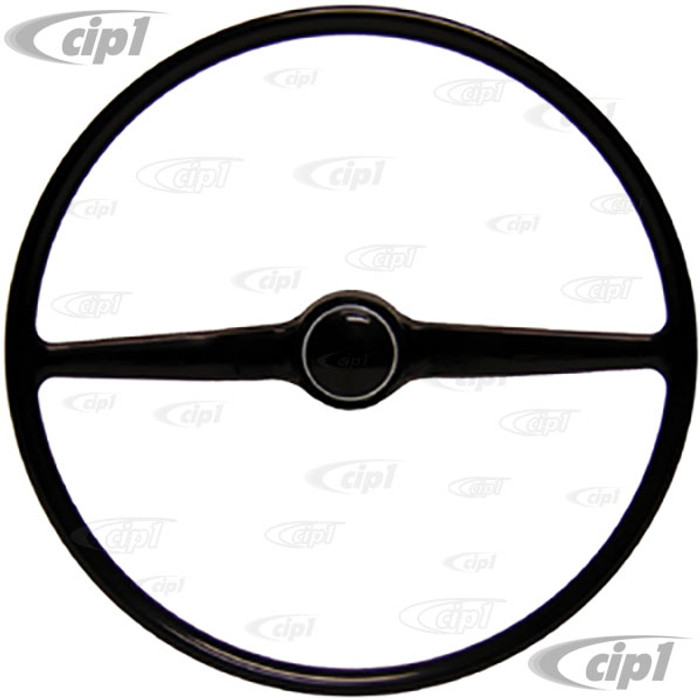 VWC-211-415-655 - (211415655) NEW STOCK REPLACEMENT - BLACK STEERING WHEEL (INCLUDES HORN BUTTON) - BUS 68-74 - SOLD EACH