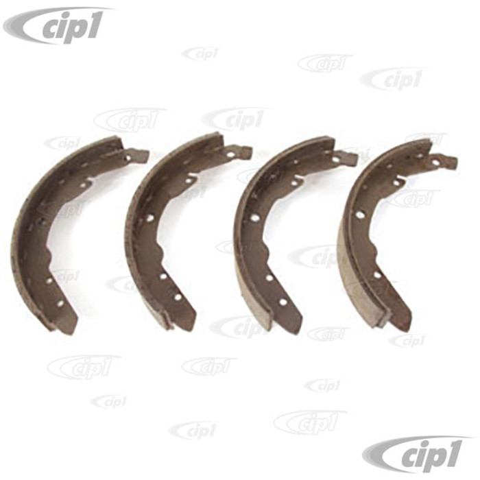 VWC-211-609-537-E - NEW BRAKE SHOE SET REAR (S298) - BUS 64-70 - 45MM (1-3/4 IN.) WIDE X 220MM (8-5/8 IN.) LONG (SOLD AS A SET OF 4 SHOES) (NO CORE CHARGE)