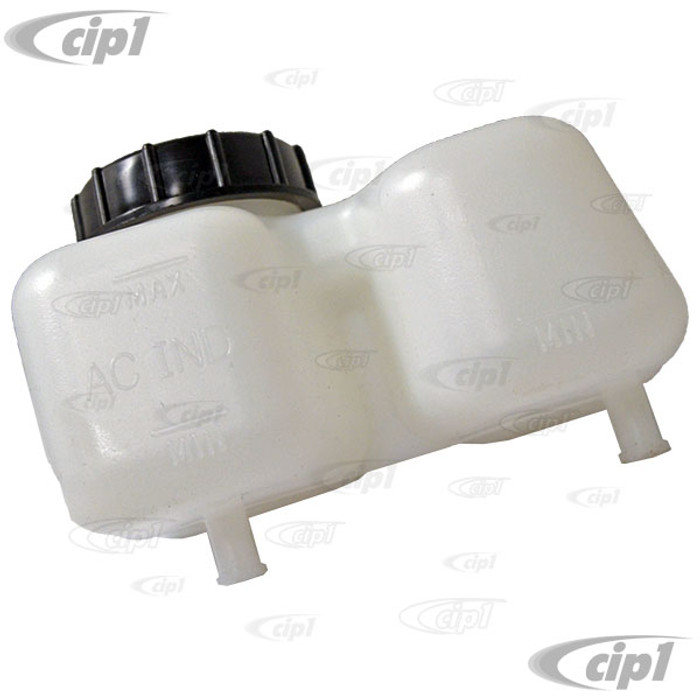 VWC-211-611-301-E - OE QUALITY REPRODUCTION - MASTER CYLINDER RESERVOIR WITH CAP - (OUTLET SPIGOTS 8MM) BUS 1967 ONLY - SOLD EACH