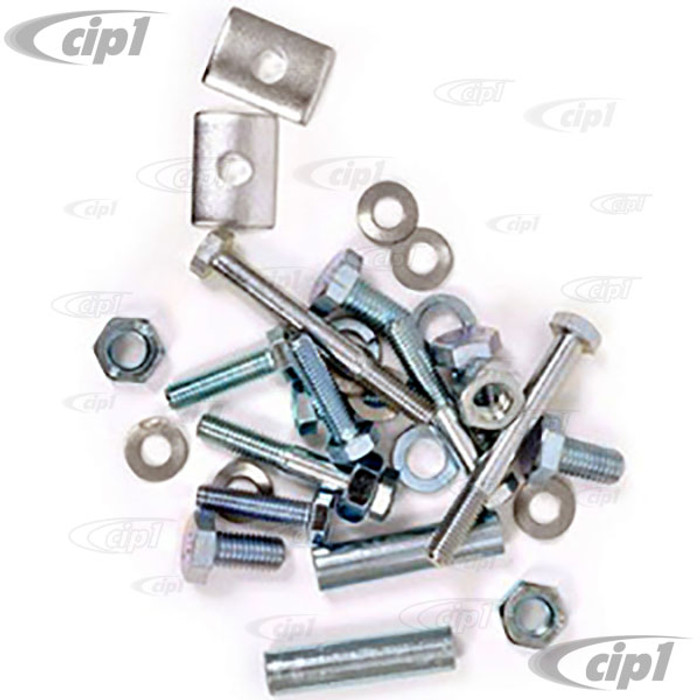 VWC-211-798-003 - REAR BUMPER BOLT KIT - INCLUDES NUTS AND BOLTS TO ASSEMBLE AND MOUNT BUMPER ASSEMBLE - BUS  59-67