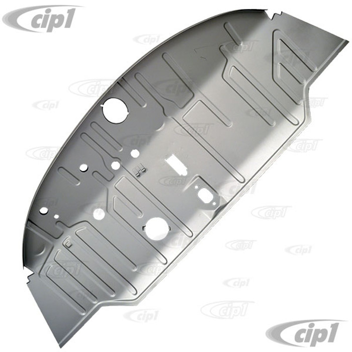 VWC-211-801-051-B - (211801051B) SILVER WELD-THROUGH HIGH QUALITY SHEET METAL - COMPLETE FRONT FLOOR REPLACEMENT PANEL - BUS 55-59 (TO CHASSIS #501-706) - SOLD EACH