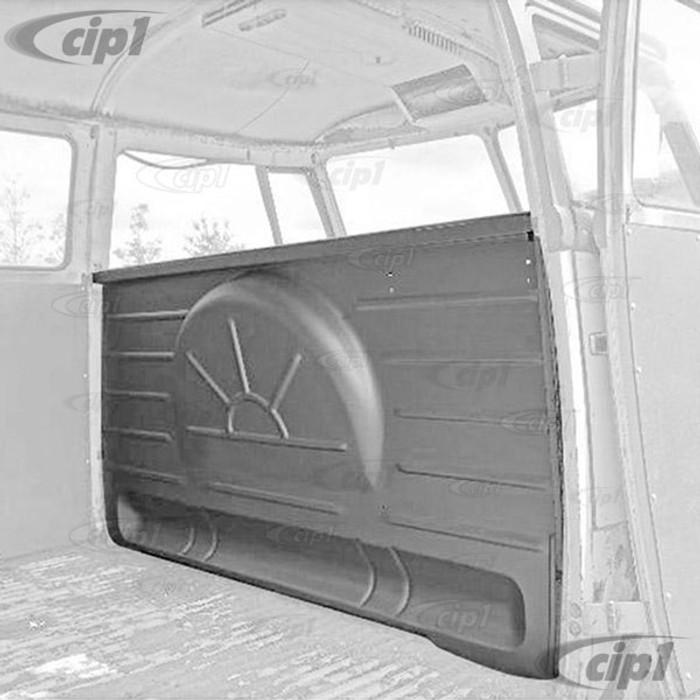 VWC-211-801-081-A - (211801081A) - BENCH SEAT BULKHEAD PANEL BETWEEN B-PILLARS - BUS 55-62 THRU CHASSIS # 971549 - SOLD EACH
